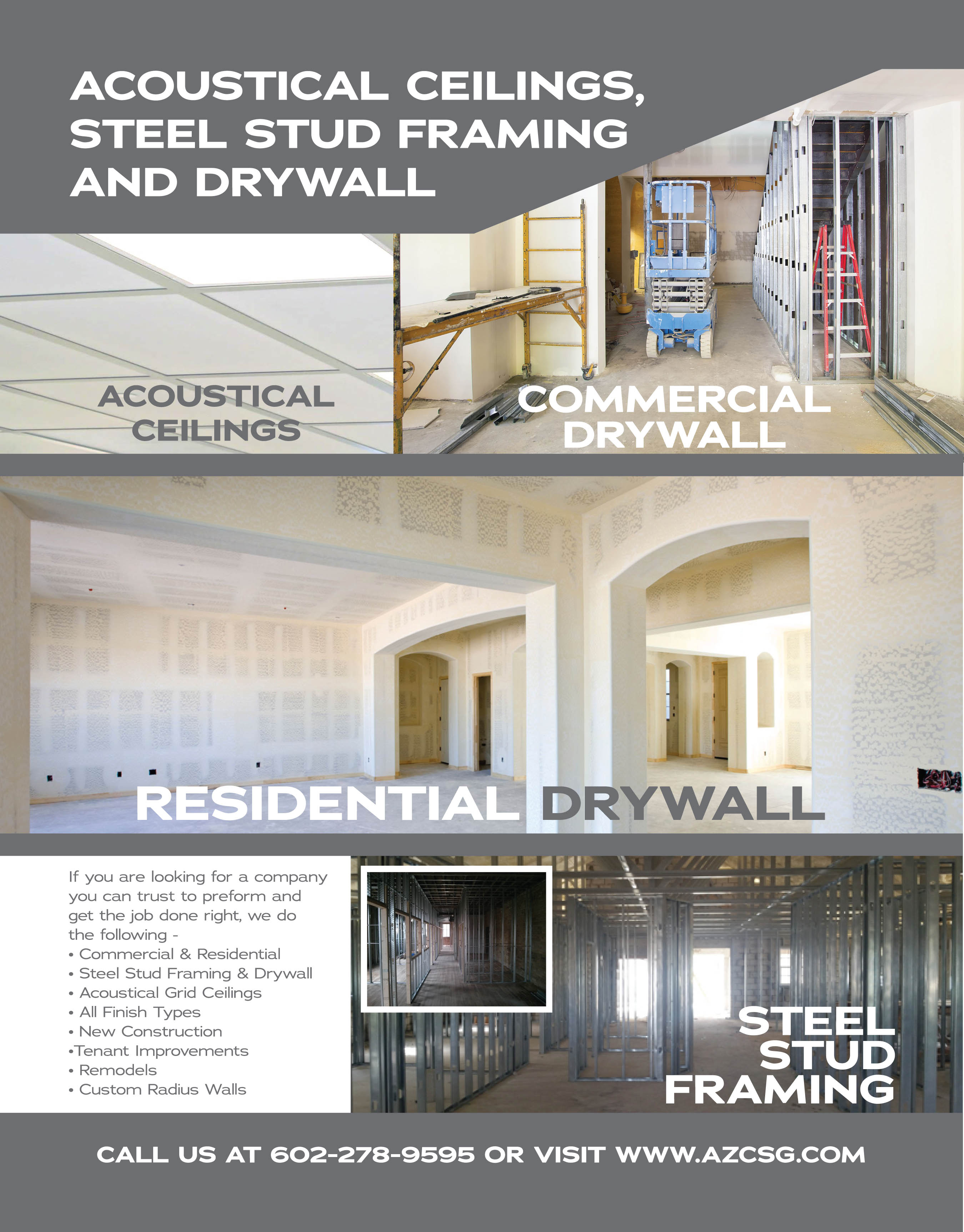 Drywall Repair & Installation Phoenix AZ General Contractor